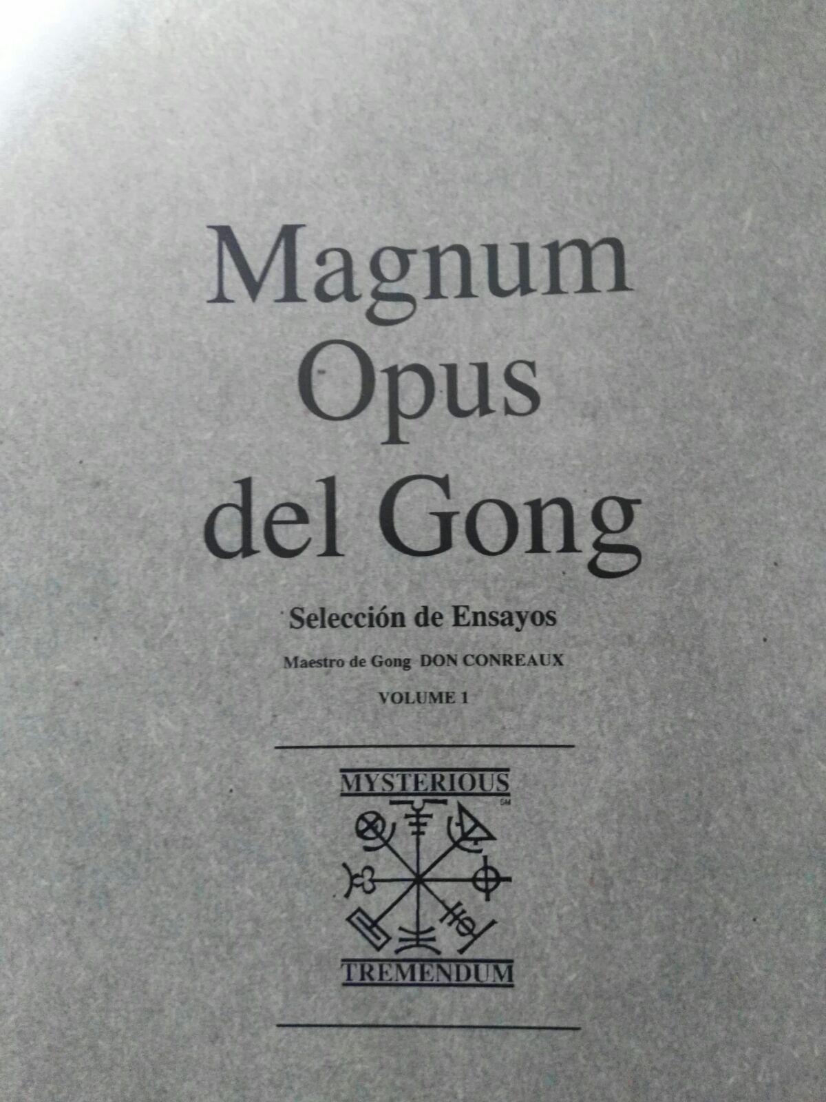 libro magnus opus gong don conreaux